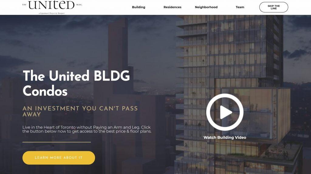 United BLDG Landing Page Design